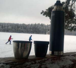 Fiilis ratkaisee hiihtolenkilläkin Kuva Availan kotialbumi